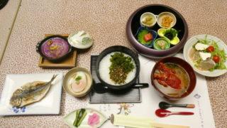 伊豆下田_野の花亭こむらさきの朝食 全体図
