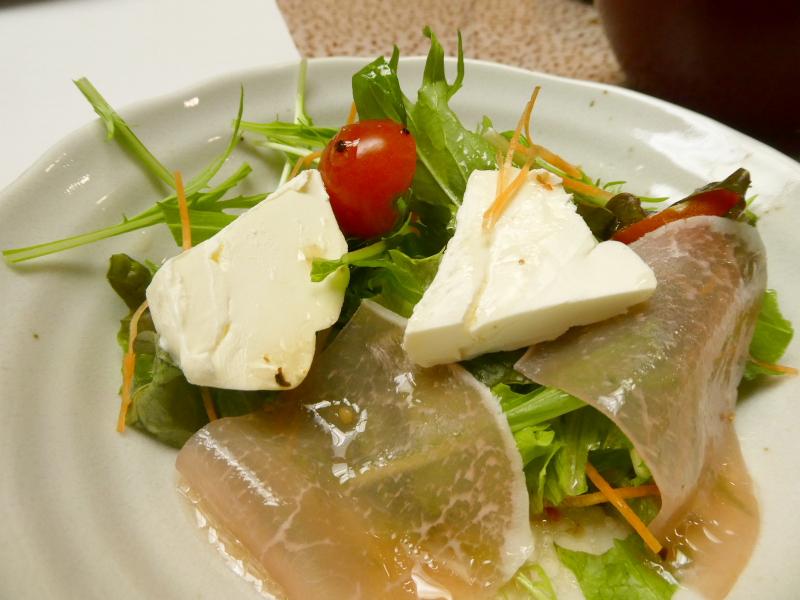 伊豆下田_野の花亭こむらさきの朝食 野菜サラダ