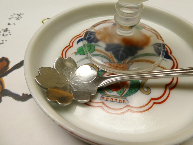 伊豆下田_野の花亭こむらさきの朝食 花の形のデザートスプーン