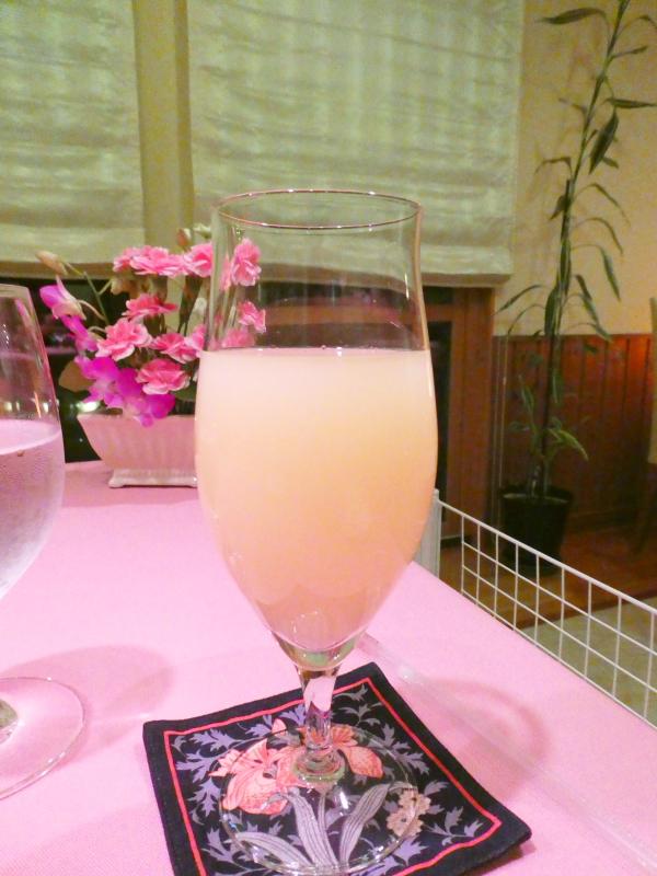 オーベルジュミヨーのドリンク グレープフルーツジュース