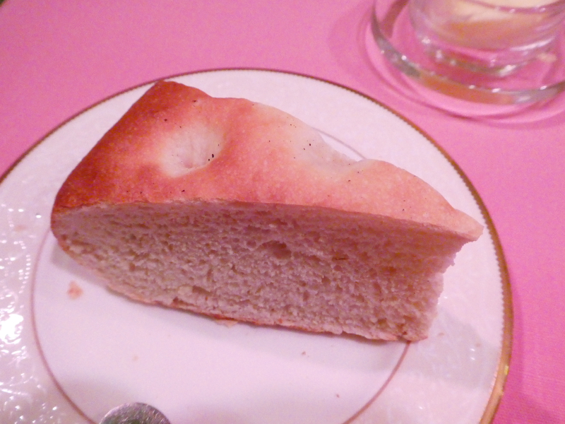 オーベルジュミヨーの夕食 本日のパン(フォカッチャ)