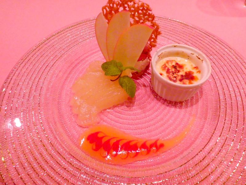オーベルジュミヨーの夕食 デザートとフルーツ