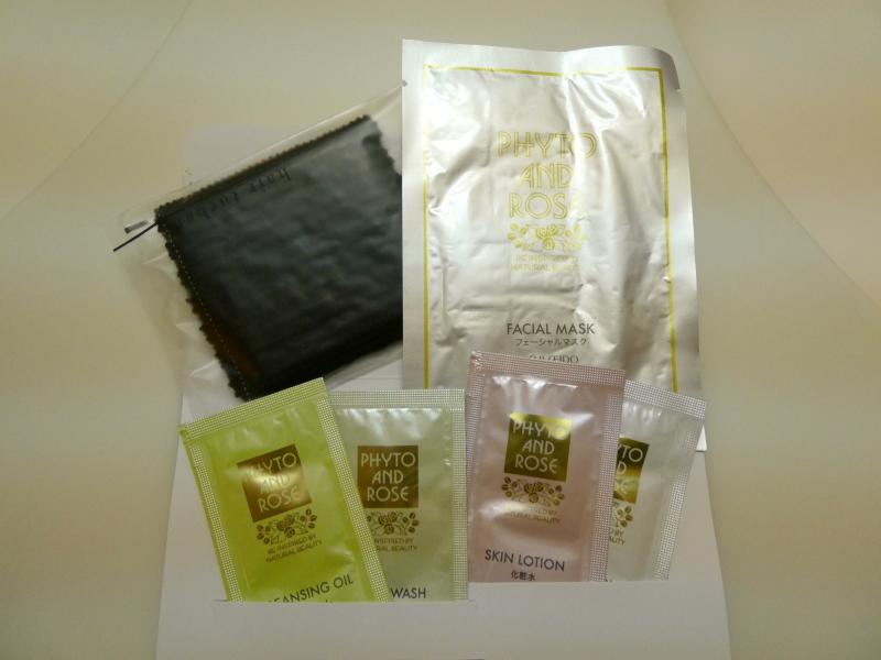 伊豆高原オーベルジュミヨーのスキンケアセットは資生堂の商品