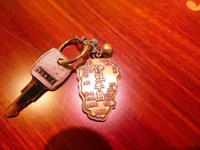 伊豆高原のオーベルジュミヨーの部屋の鍵