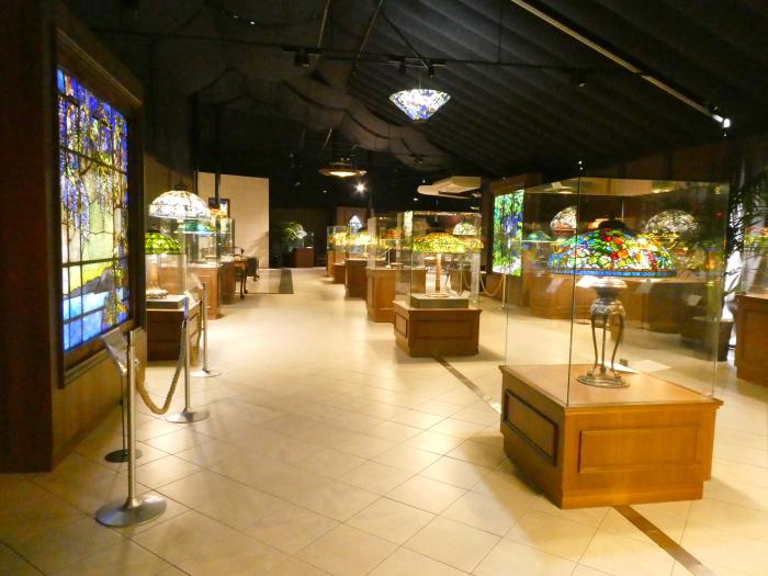 伊豆城ケ崎ニューヨークランプミュージアムの館内