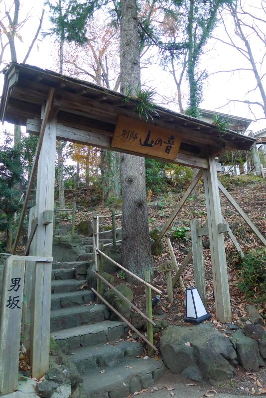 伊豆高原_きらの里 客室「山の音」に向かう急な階段