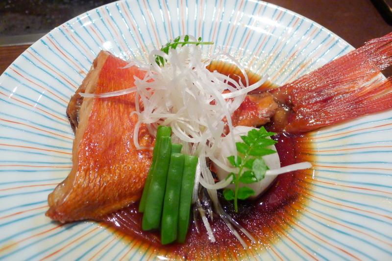 伊豆高原_きらの里の夕食「金目鯛の煮つけ」