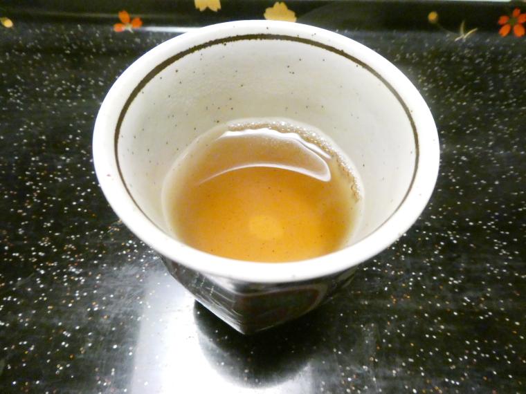 熱海_さくらや旅館_夕食 ほうじ茶