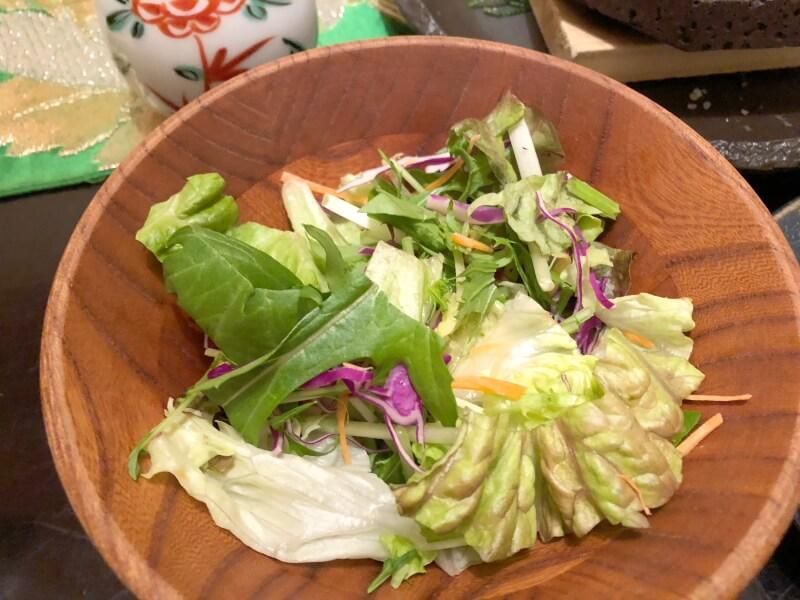 伊豆高原_茄子のはな 夕食のサラダ