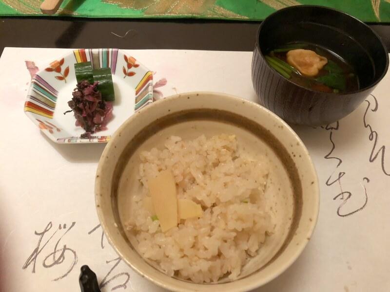伊豆高原_茄子のはな 夕食のたけのこごはん