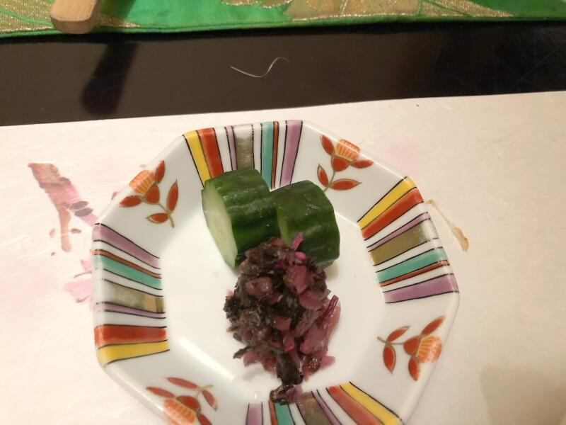 伊豆高原_茄子のはな 夕食の香の物