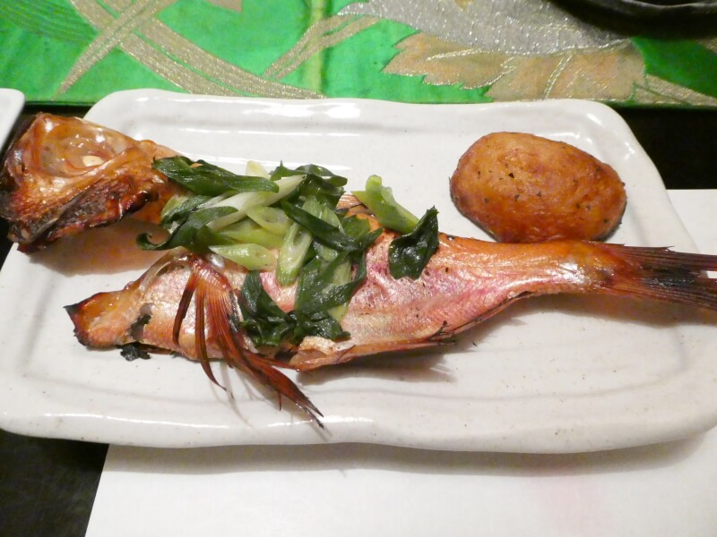 伊豆高原_茄子のはな 夕食 焙烙の金目鯛