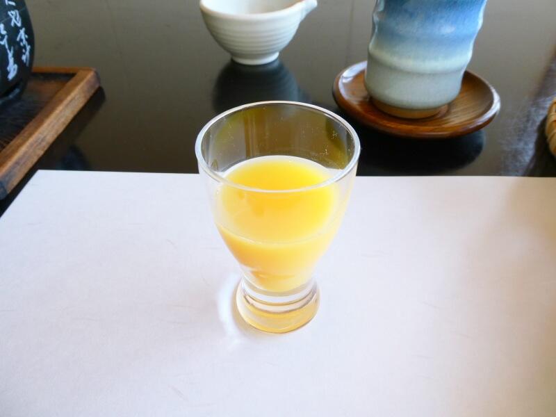 伊豆高原_茄子のはな 朝食 オレンジジュース