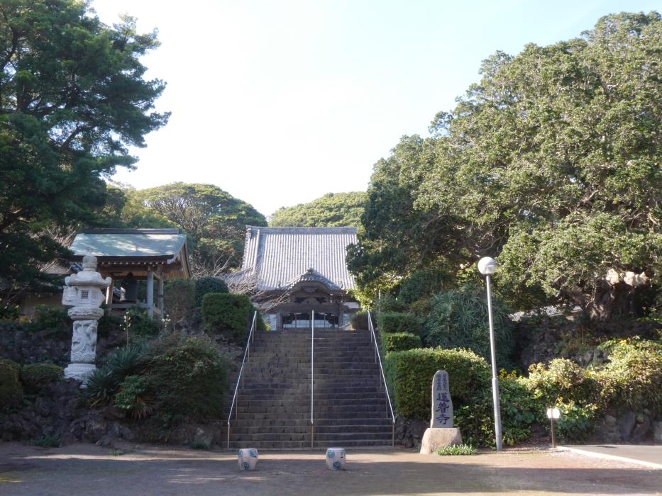 伊豆_蓮着寺の境内への入り口