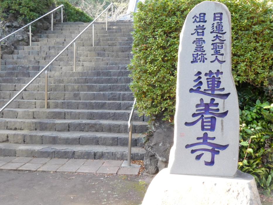 伊豆_蓮着寺境内への入り口
