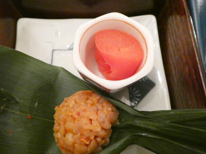 伊香保_香雲館の朝食 めんたいこと納豆