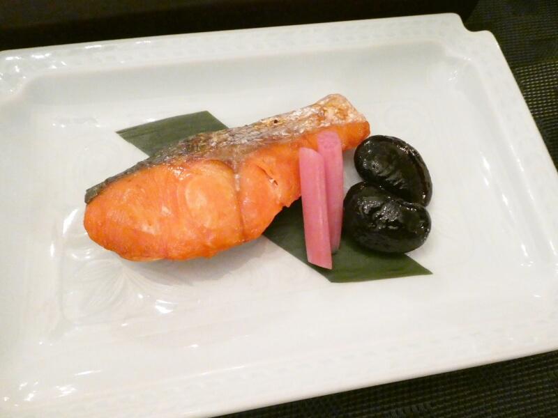 伊香保_香雲館の朝食 塩鮭