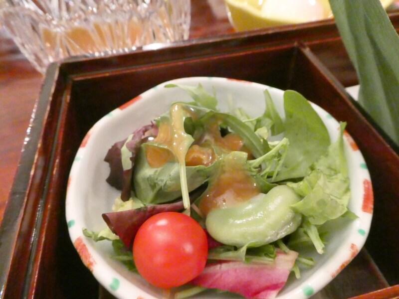 伊香保_香雲館の朝食で食べた野菜サラダ