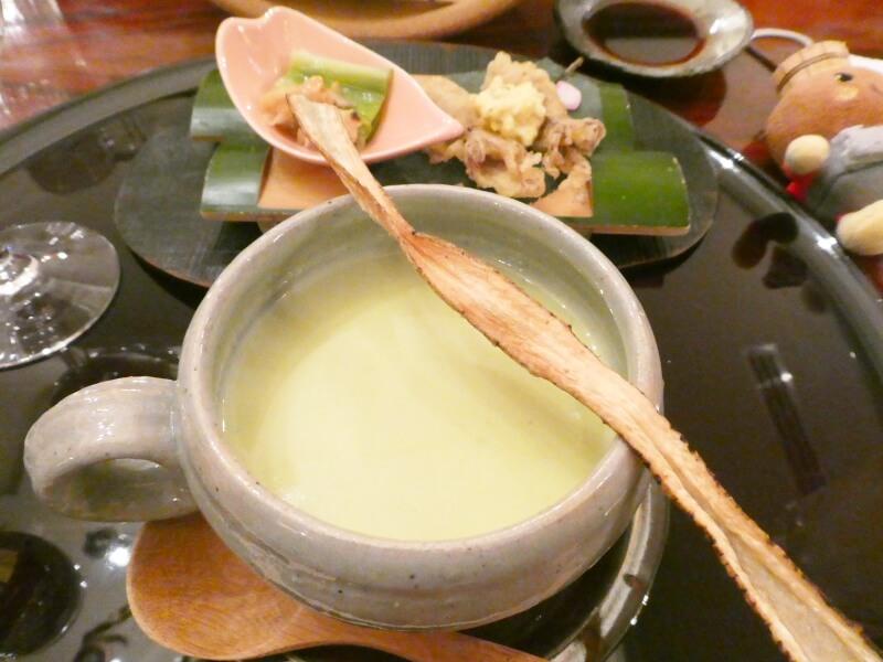 伊香保_香雲館 夕食 箸洗いのポタージュ