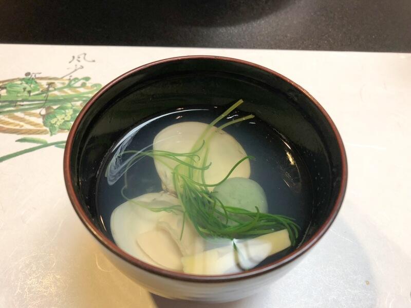 白布温泉別邸山の季の夕食 蛤のお吸い物