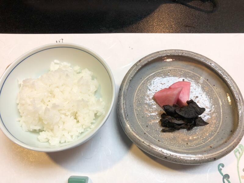白布温泉_別邸山の季 食事と香の物