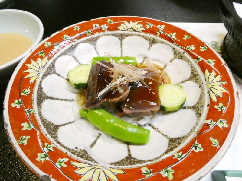 白布温泉_別邸山の季 先付鰹と野菜のサラダ仕立て