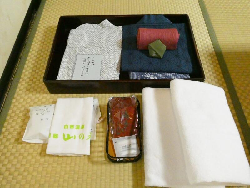 白布温泉_別邸山の季の客室「かるかや」の浴衣類