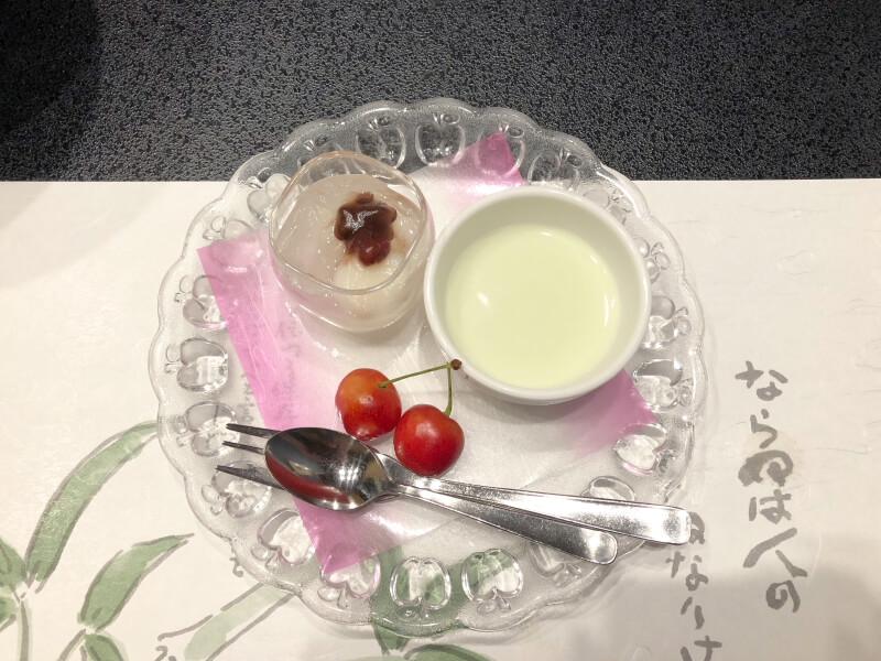 赤湯温泉森の湯の夕食で食べたデザート