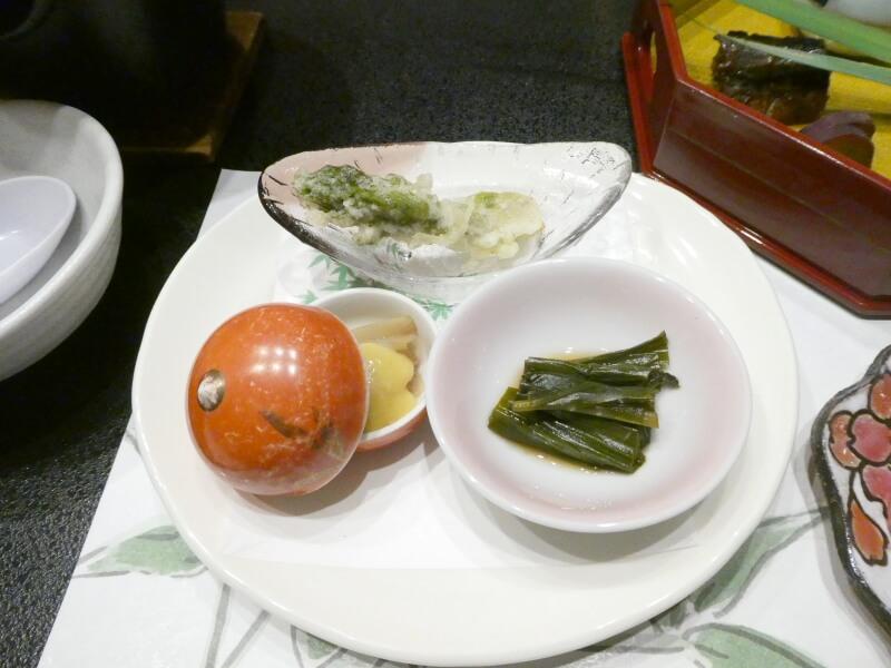 赤湯温泉森の湯の夕食 糧物の山菜