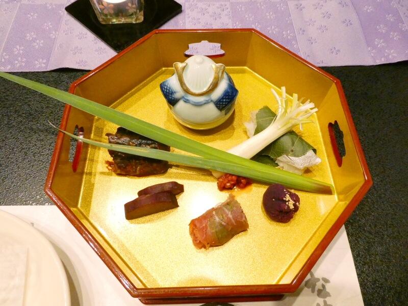 赤湯温泉森の湯夕食の前菜