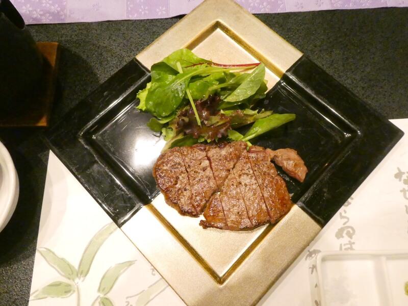赤湯温泉森の湯で食べた米沢牛のフィレステーキ