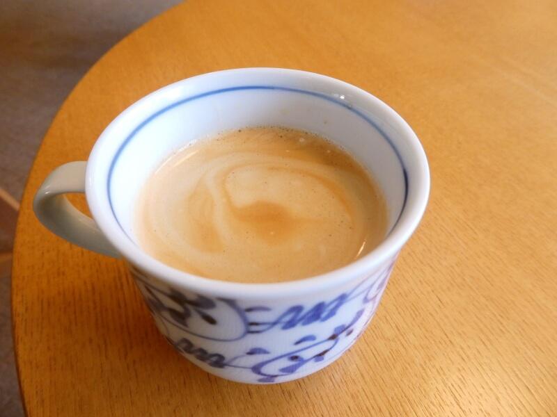 赤湯温泉森の湯の朝食後のコーヒー