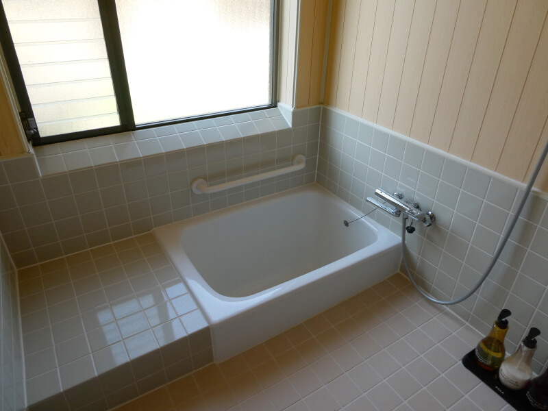赤湯温泉森の湯 客室のお風呂は温泉が楽しめる